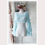 Infanta Cropped lolita blouse removable sleeves