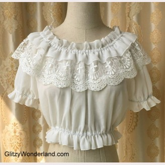 Cropped Lolita Summer Lace Top (BS17)