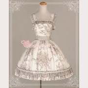 Magic tea party Floral JSK gray/ white