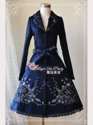 Magic tea party winter mass embroidery coat