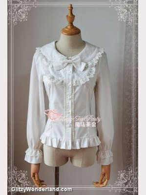Magic tea party Heart lolita blouse