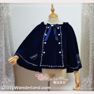 Magic tea party winter mass hooded cape