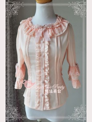 Magic tea party mid-sleeves blouse