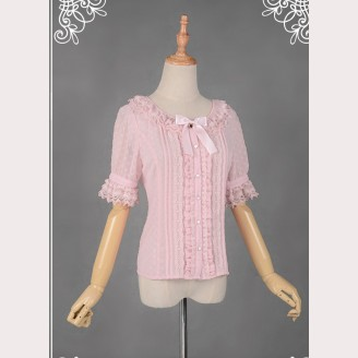 Souffle Song Summer Heart Dot Blouse
