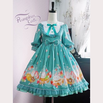 "Pumpkin Cat ""Spun Sugar Rabbit"" lolita dress JSK / OP"