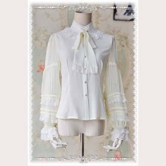 Infanta Striped See through sleeves lolita blouse