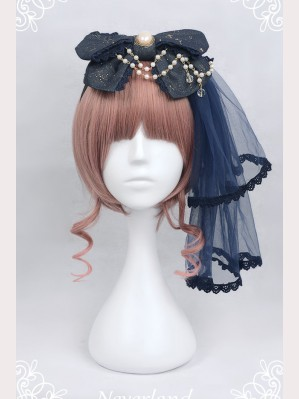 Souffle Song Wishing Stars Classic Lolita Headbow KC