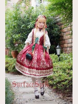 Surface Spell Gothic Alpine rose Lolita Dress JSK