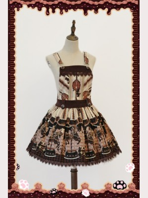 "Infanta ""Chocolate Trojan"" Lolita Suspender Skirt"
