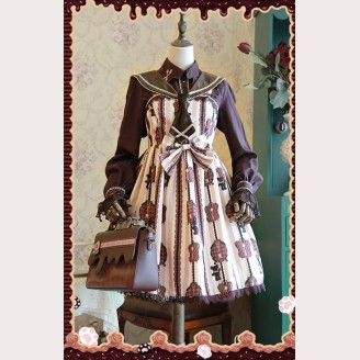 "Infanta ""Chocolate Trojan"" Lolita Dress Mini JSK"
