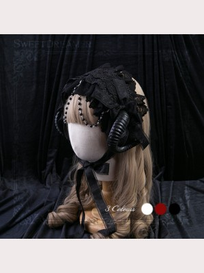Demon Horn Lace Headdress