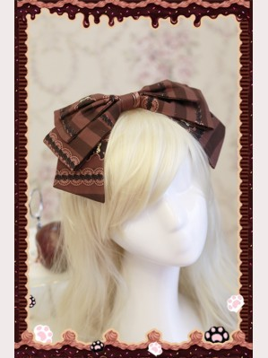 "Infanta ""Chocolate Trojan"" Matching KC headbow"