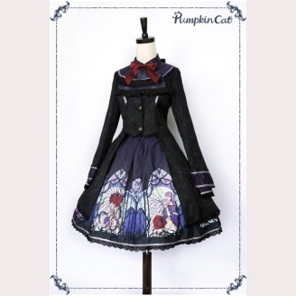 Pumpkin Cat Beauty the Rose Lolita Coat  (PC12)