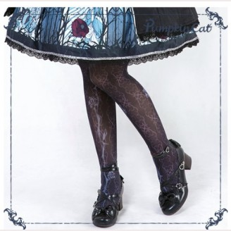 Pumpkin Cat Beauty the Rose Lolita Matching Tights