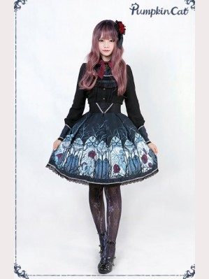 Pumpkin Cat  Beauty the Rose Lolita Skirt SK