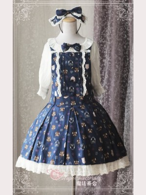 "Magic tea party ""Lovely Owl"" Lolita Suspender Skirt"