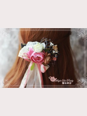 "Magic tea party ""Peony"" Classic Floral Lolita Hair Clips"