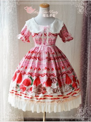 Magic tea party Strawberry Chocolate Lolita Dress OP