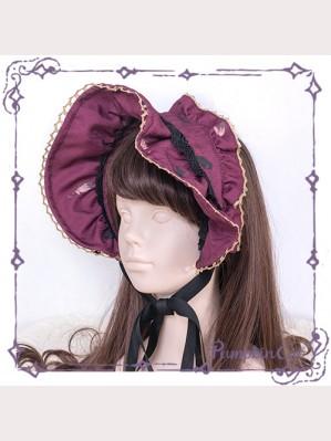 """Pumpkin cat """" Cruel Little Red Riding Hood"""" Matching Bonnet/ Headbow/ Hairclips"""