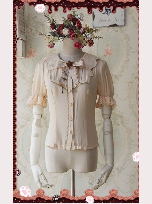 Infanta Chocolate drops embroidery lolita blouse (short sleeves)