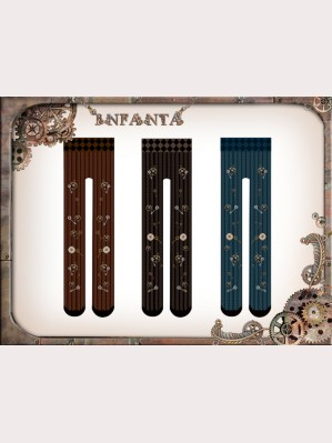 Infanta Steampunk Gears Lolita Tights
