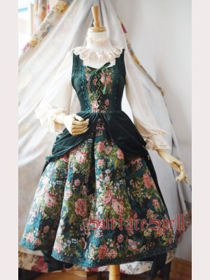 Surface Spell Gothic Winter Rose Garden Lolita Dress JSK