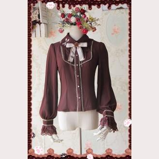 Infanta Chocolate drops embroidery lolita blouse (Long Sleeves)