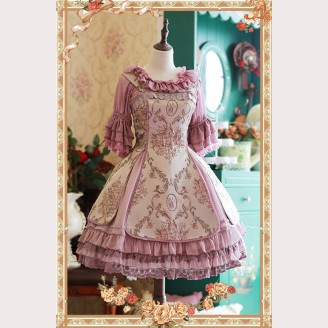 Infanta Windsor's Afternoon Tea Embroidery Lolita Dress JSK & Petticoat