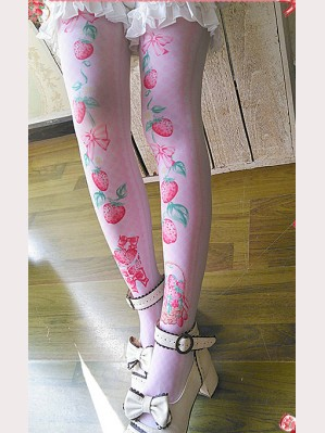 Infanta Strawberry Lolita Stockings