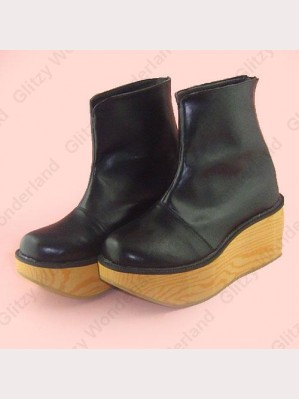 Black rocking horse calf boots