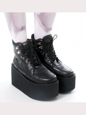 Japan Harajuku Black Sneaker Boot