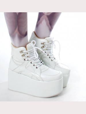 Japan Harajuku White Sneaker Boot