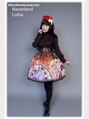 "Souffle Song ""Clock"" high-rise skirt SK"