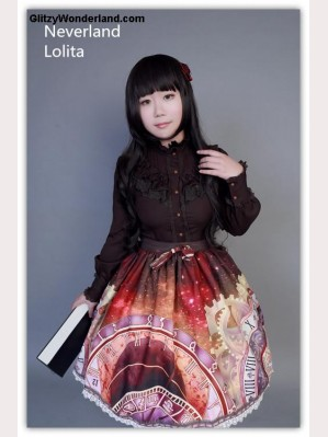 "Souffle Song ""Clock"" low-rise skirt SK"