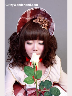 "Souffle Song ""saintess & pigeon"" bonnet & flower"