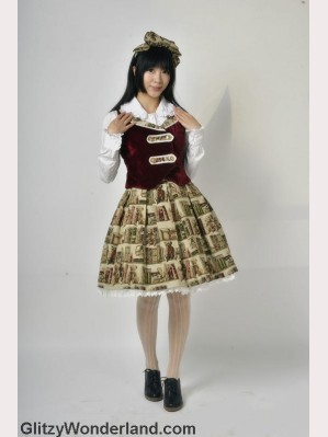 Souffle song bear library lolita skirt