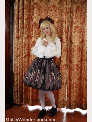 Souffle song stained glass lolita skirt high-rise SK