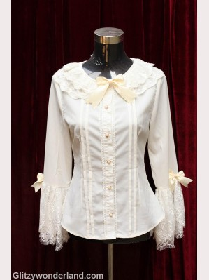 Souffle song lolita lace sleeve blouse
