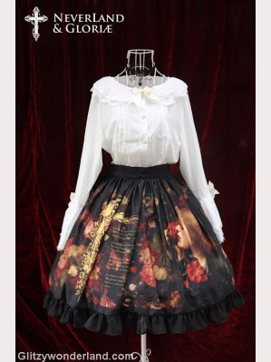 Souffle song choosing mid-rise lolita skirt SK