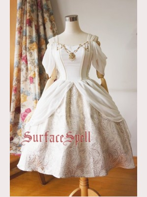 Surface Spell Day & night off shoulder gothic lolita dress (SSG01)