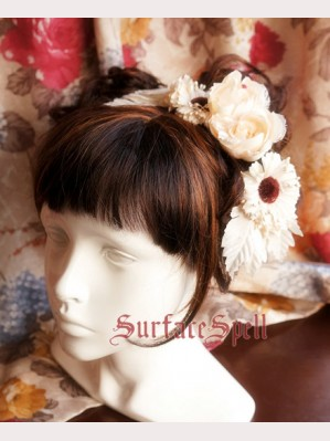 Rose & Chrysanthemum hairclip