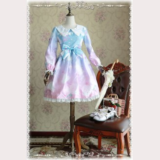 Infanta Rainbow Cotton Candy Lolita Dress OP