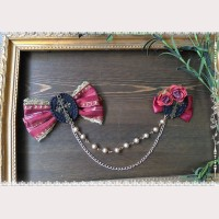 Infanta Gothic Lolita Cross & Rose Hairpin/ brooch