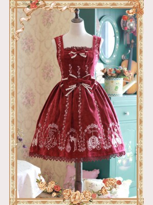 Infanta Cinderella Embroidery Lolita Dress JSK