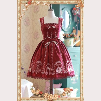 Infanta Cinderella Embroidery Lolita Dress JSK