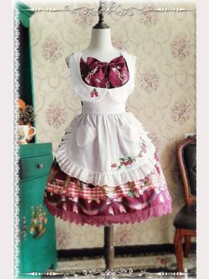 Infanta Strawberry Lolita Apron