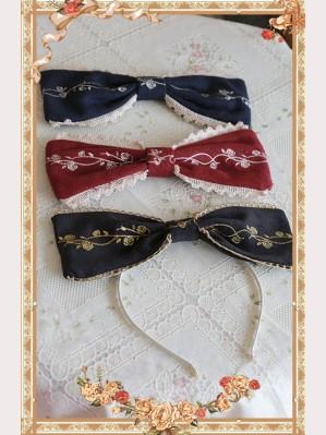 Infanta Cinderella Embroidery Lolita Headbow KC (IN413)