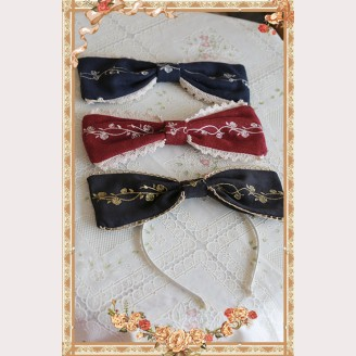 Infanta Cinderella Embroidery Lolita Headbow KC