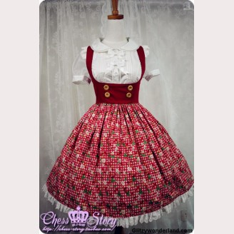 Chess Story Cherry&Berry JSK (with Apron)