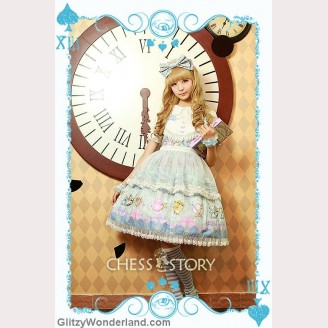 Chess Story Alice's Mad Tea Party lolita dress JSK